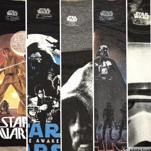 Bundle of 5 Large Star Wars Shirts